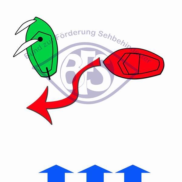 Segelboot vor Motorboot